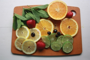 citrus infused fruit water